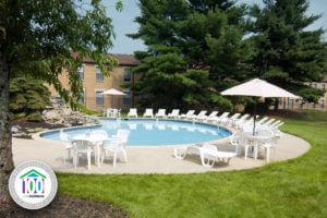 swimming pool at Korman Residential at Willow Shores